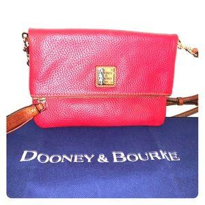 Red Dooney & Bourke fold over Crossbody *NEW